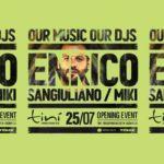 Enrico Sangiuliano e Miki all'inaugurazione Tinì Soundgarden Cecina 2020